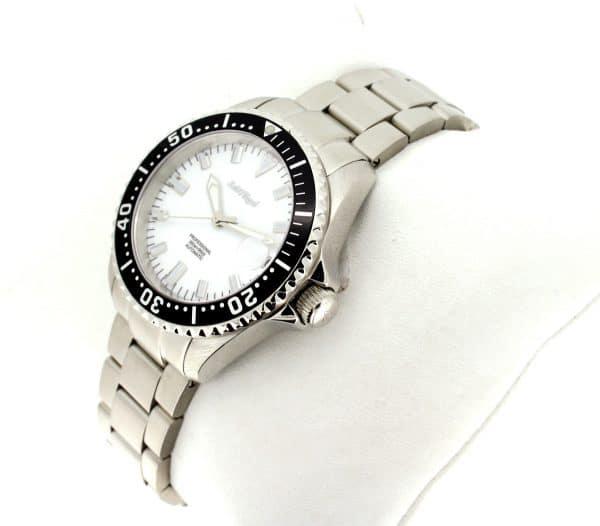 Zeitflügel Luxusuhr/ Lady Line - Exklusiv bei Juwelier Master mit schwarzer Lünette & weißen Ziffernblatt